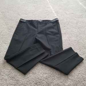 Vince Black Wool Cropped Pants Sz 14